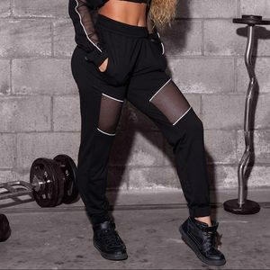 Sommer Ray Mesh Cut Out Joggers